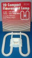 2D 16w 2 Pin COMPACT FLOURESCENT LOW ENERGY SAVING LAMP LIGHT BULB 3500K
