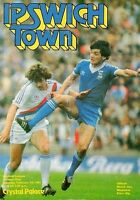 IPSWICH TOWN v CRYSTAL PALACE 1981, 7 February FOOTBALL PROGRAMME