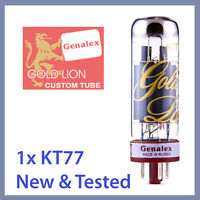 1x NEW Genalex Gold Lion KT77 Power Vacuum Tubes EL34 6CA7 TESTED