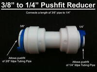 """3/8"""" 10mm X 1/4"""" 6mm Straight pushfit reducer fitting connector,water pipe ,RO"""