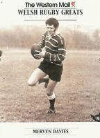 """Mervyn Davies, Wales WESTERN MAIL """"Welsh Rugby Greats Collection"""" Rugby Card"""