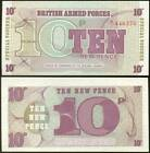 BRITISH ARMED FORCES 10 NEW PENCE 6TH SERIES GRAN BRETAGNA SPECIAL VOUCHER 1972