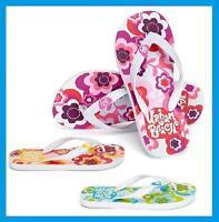 Ladies Womens Flower Design Rubber Flip Flops / Sandals ~ UK 3 4 5 6 7 8