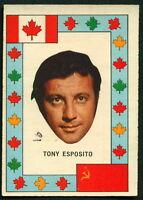 1972 73 OPC O PEE CHEE TEAM CANADA VS RUSSIA TONY ESPOSITO HOCKEY BLACKHAWKS
