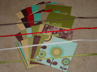 STAMPIN UP PLAYDATE LARGE CARD KIT *12* CARDSTOCK & *12* DSP RIBBON NEW