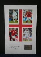 Wayne Rooney Manchester united England autograph signed montage, AFTAL