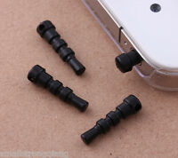 50 pcs Black Earphone 3.5mm Ear Cap Dock Dust Plug for Cell Phone Accessories