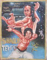AFRICAN ART MOVIE CINEMA POSTER HOME WALL DECOR PAINTED GHANA SHAOLIN TEMPLE