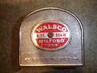 Old Vtg Antique Collectible 6' 806W WALSCO Tape Measure Made In USA