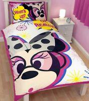 Disney Minnie Mouse 'Shopaholic' Reversible Single Bed Duvet Quilt Cover Set