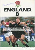 England B v Australian Emerging Players 1990 Rugby Programme 4th November