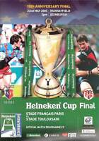 STADE FRANCAIS v TOULOUSE 2005 HEINEKEN EUROPEAN CUP FINAL RUGBY PROGRAMME