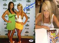 Sara Jean Underwood w/ AJ Alexander Signed 8x10 Photo PSA/DNA COA Playboy Auto'd