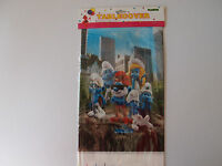 THE SMURFS BIRTHDAY PARTY TABLECOVER TABLECLOTH NEW!