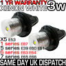 NEW BMW E39 E87 E60 E63 E64 E65 E66 E53 OEM ANGEL EYES LED LIGHT 3W WHITE BULBS