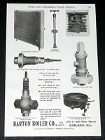 1904 OLD MAGAZINE PRINT AD, BARTON BOILER, STEAM CAR PARTS, BURNELL CONDENSERS!