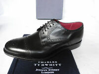 NEW Charles Tyrwhitt Black Calf Leather Cap Toe Formal Lace Up Shoes UK 7.5 F