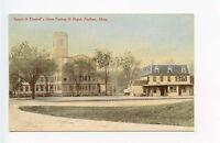 Foxboro MA Railroad Train Depot Station Postcard