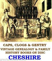 Cheshire Chester Wirral Genealogy Local History Topography Vintage Books on Disc