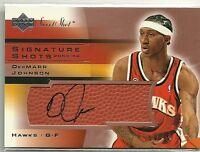 2003-04 UD Upper Deck Sweet Shot Signature Dermarr Johnson Auto Autograph Card
