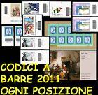 ITALIA 2011 Codici a Barre in ogni posizione Seconda Parte** ITALY Barcode