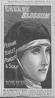 1890 Antique Cherry Blossom Perfume Toilet Soap Religious NUN Ad