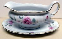 FOREST- BAVARIA-GERMANY-MOONGLOW - GRAVY BOAT&UNDERPLATE--VINTAGE -RARE PATTERN