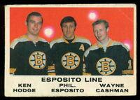 1970 71 OPC O PEE CHEE 233 PHIL ESPOSITO WAYNE CASHMAN HODGE VG-EX BOSTON BRUINS