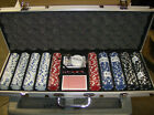 11.5 Gram 500 count Dice Design Poker Chip Set w/ Aluminum case! Brand New!