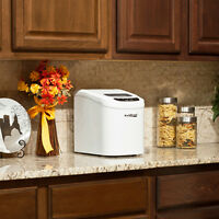 Ultra Compact & Portable Mini Ice Maker - Small Tabletop Cube Icemaker Machine