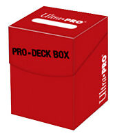 Ultra Pro 100+ Red Pro-Deck Box (Trading Card Accessories) NEW holds 110 cards