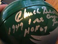 CHUCK BEDNARIK AUTO EAGLES MINI HELMET W/COA HOF 1949 1ST OVERALL PICK INSCRIPT