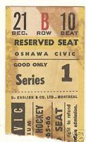 Bobby Orr 1965-66 Oshawa Ticket Canada Boston Bruins VG