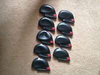 Set of 9 Rubber JL Golf club iron head covers 3-SW NEW protection