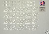 Dawes Galaxy set of decals vintage