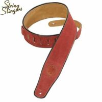 Levys Levy's MSS3 2.5in Suede Guitar strap with Black piping, Burgundy