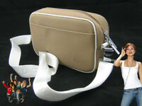 Vinatage LACOSTE Ladies Womens Shoulder Bag Classic 2.4 Carmel (White Trim)