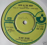 """BE BOP DELUXE - Ships In The Night - Ex Con 7"""" Single"""