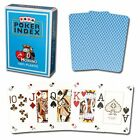 Modiano Poker Index 100% Plastic Playing Cards Light Blue