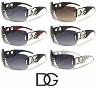 Womens Oversized Rimless Fashion Shield DG Eyewear Sunglasses - Pick your color!