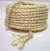 """10 Feet 100% NATURAL UNOILED 1/4"""" SISAL ROPE Bird Parrot Toy Parts Craft Pet NEW"""