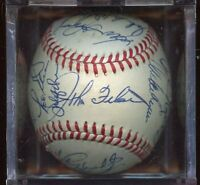 1985 Philadelphia Phillies Team Signed ONL Feeney Baseball 26 Signatures JSA LOA