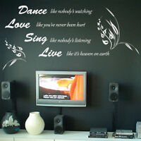 Quotes Lettering Art Window Wall Stickers/Wall Decal