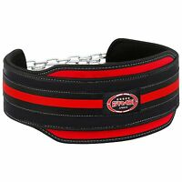 Weight lifting Body Building Dip Belt Neoprene with Chain
