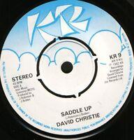 "DAVID CHRISTIE saddle up  the signals 7"" WS EX/ uk KR 9"