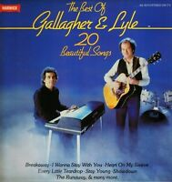 GALLAGHER AND LYLE the best of LP PS EX/EX warwick WW 5080