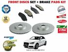 FOR AUDI A1 1.2i TFSi CBZA 2010-> NEW FRONT BRAKE DISCS SET AND DISC PADS KIT