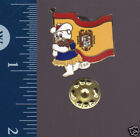 SPAIN FLAG 1988 Calgary Winter Olympics PIN BADGE