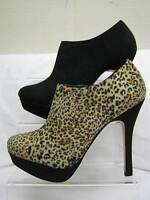 Damen Spot On Kunstwildleder Reißverschluss Stiefeletten Stiefel mit 12.7cm