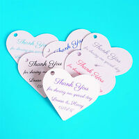 Personalised Heart Wedding Favour Tags, White / Ivory Cream - Any Colour